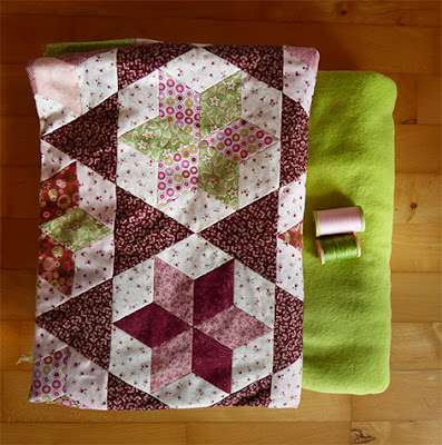Skøn blød fleece til bagside på quiltet tæppe