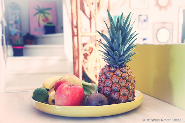 ananas,fruits,banane,jaune,citron,pomme,vintage,vase