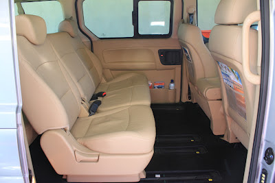 leather seats in luxury minibus