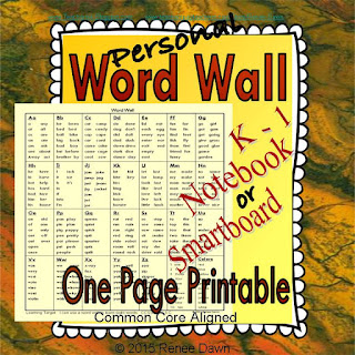 https://www.teacherspayteachers.com/Product/Personal-Word-Wall-Word-Wall-Printable-2062777