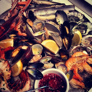 Plateau de fruits de mer at Disiac, Soho