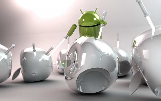 Android wins Apple