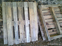 Palets para hacer el compostador, carpinteria madera, enredandonogaraxe.com