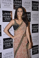 Shraddha Kapoor in Saree at Lakme Fashion Week 2013