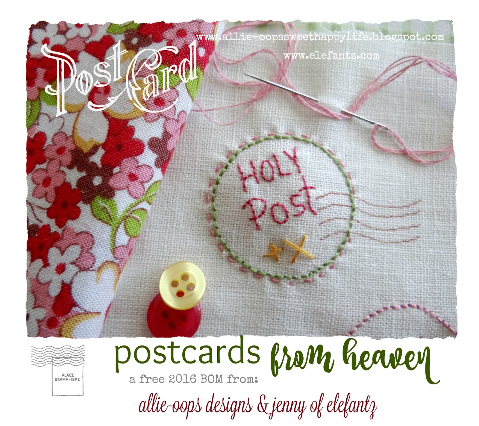 Stitchery Post Cards