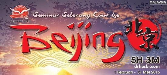 Peluang melancong ke Beijing percuma dengan Sahajidah Hai-O Marketing