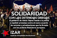 Solidaridad con l@s detenid@s Griegos por luchar contra el acuerdo de la vergüenza
