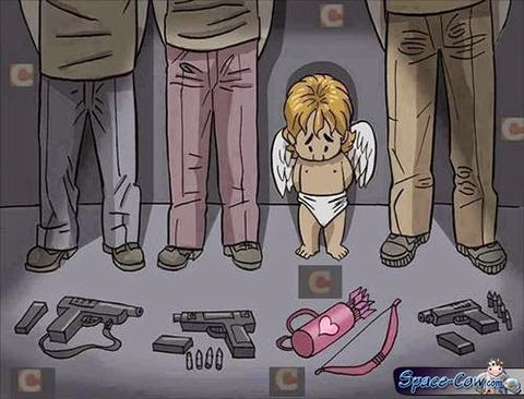 funny comics Cupid picture