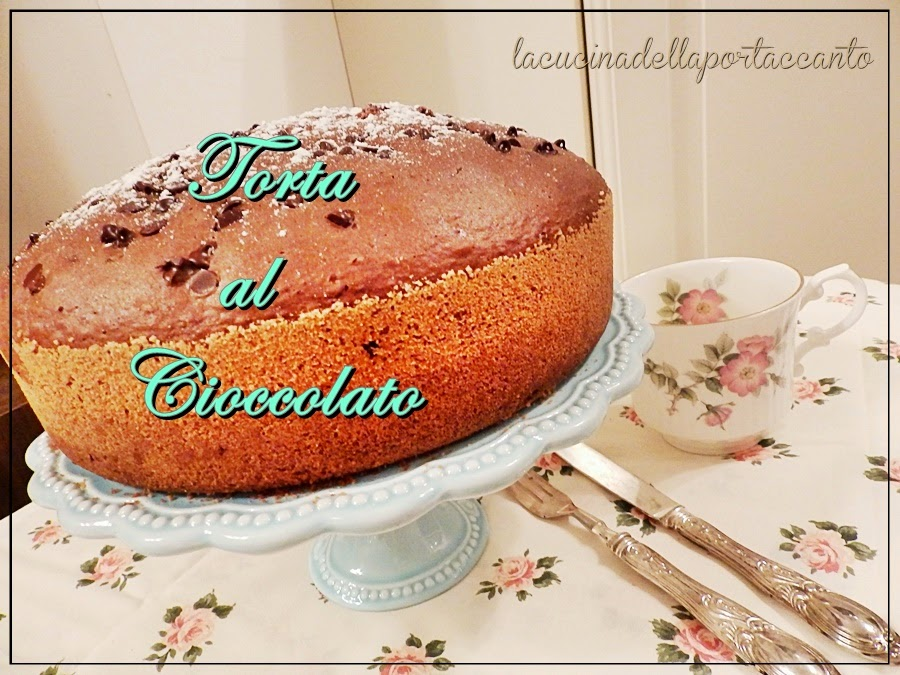 torta al cioccolato, senza lattosio e cotta nel fornetto sul fornello / chocolate cake, lactose and cooked in the oven on the stove