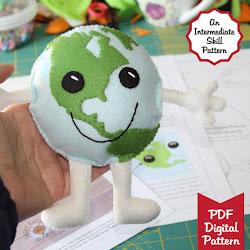 Happy Earth Guy Pattern