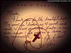 ROBIN TUNNEY'S MESSAGE FOR THE FANS' BOOK!