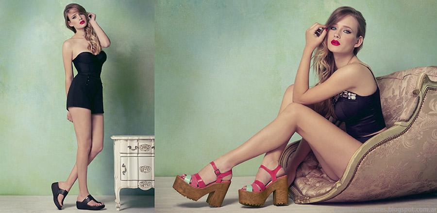 Sandalias de moda Lady Stork primavera verano 2015.