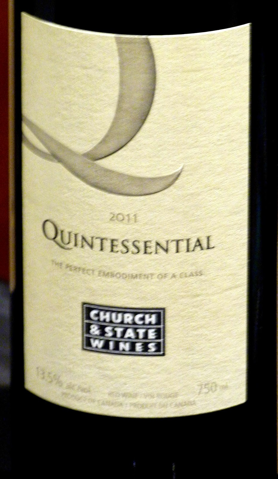 john schreiner on wine church state quintessential wins church and state quintessential 2011 55 merlot 70% cabernet franc 15% cabernet sauvignon 5% malbec 5% petit verdot 5% this is a wine a track