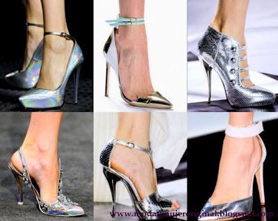 zapatos metalizados para lucir elegante