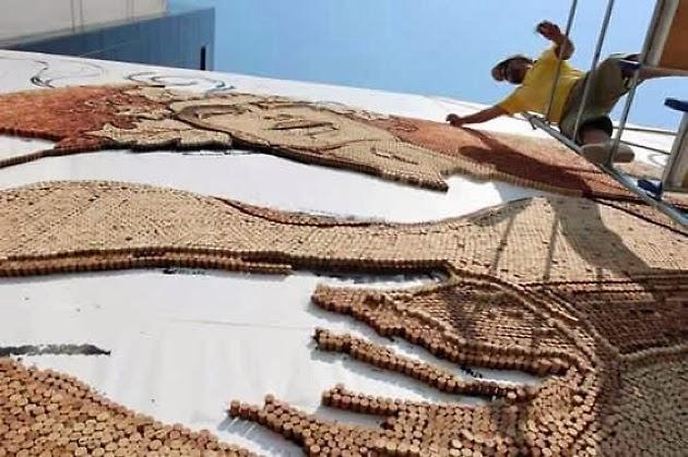 Saimir Strati, artista del mosaico, 7 récords mundiales guinness, Mediterraneana