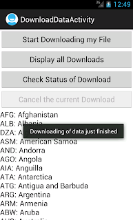Android DownloadManager download successful
