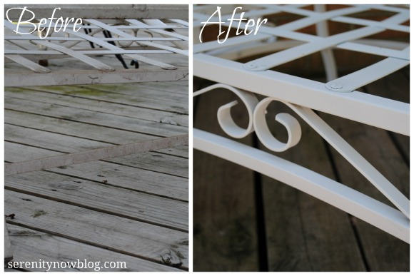 How To Clean And Paint Vintage Metal Patio Furniture