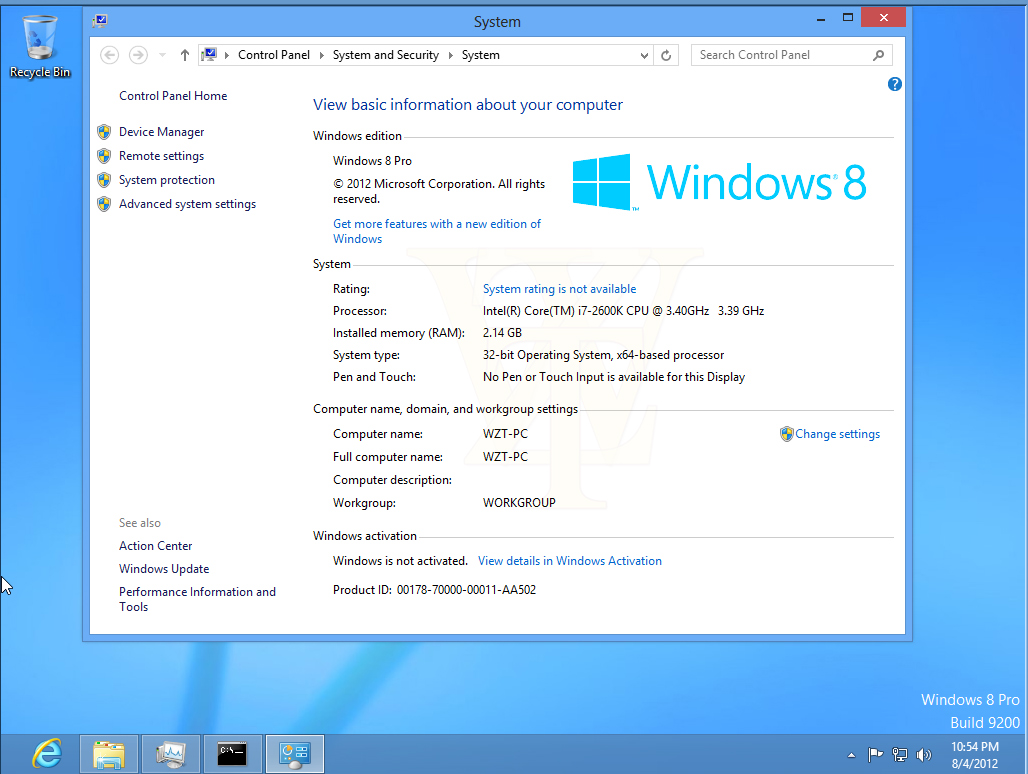 serial number windows 8 pro
