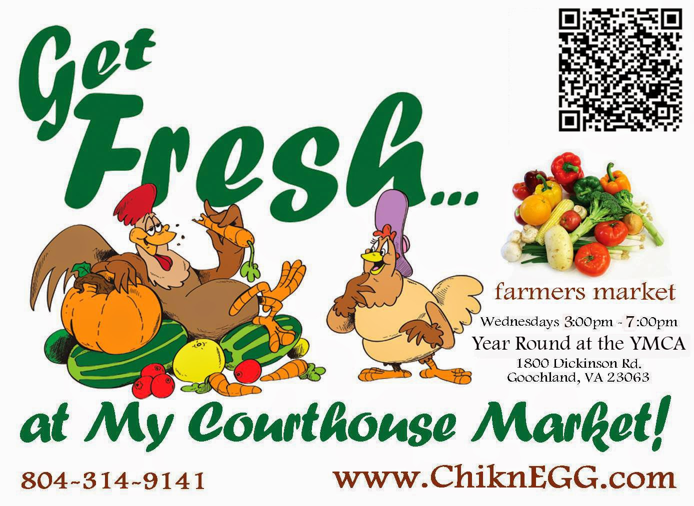 ChiknEGG's My Courthouse Market is located at 1800 Dickinson Road in Goochland, VA