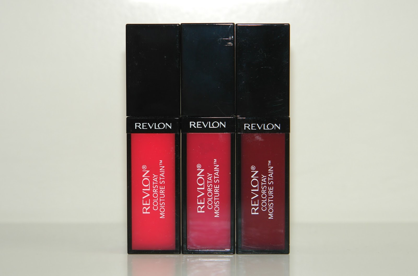 Revlon ColorStay Moisture Stains in Rio Rush, India Intrigue and Parisian Passion, beauty, lip gloss, lipstick, make up, review, Revlon, swatches, UK beauty blog, blogger