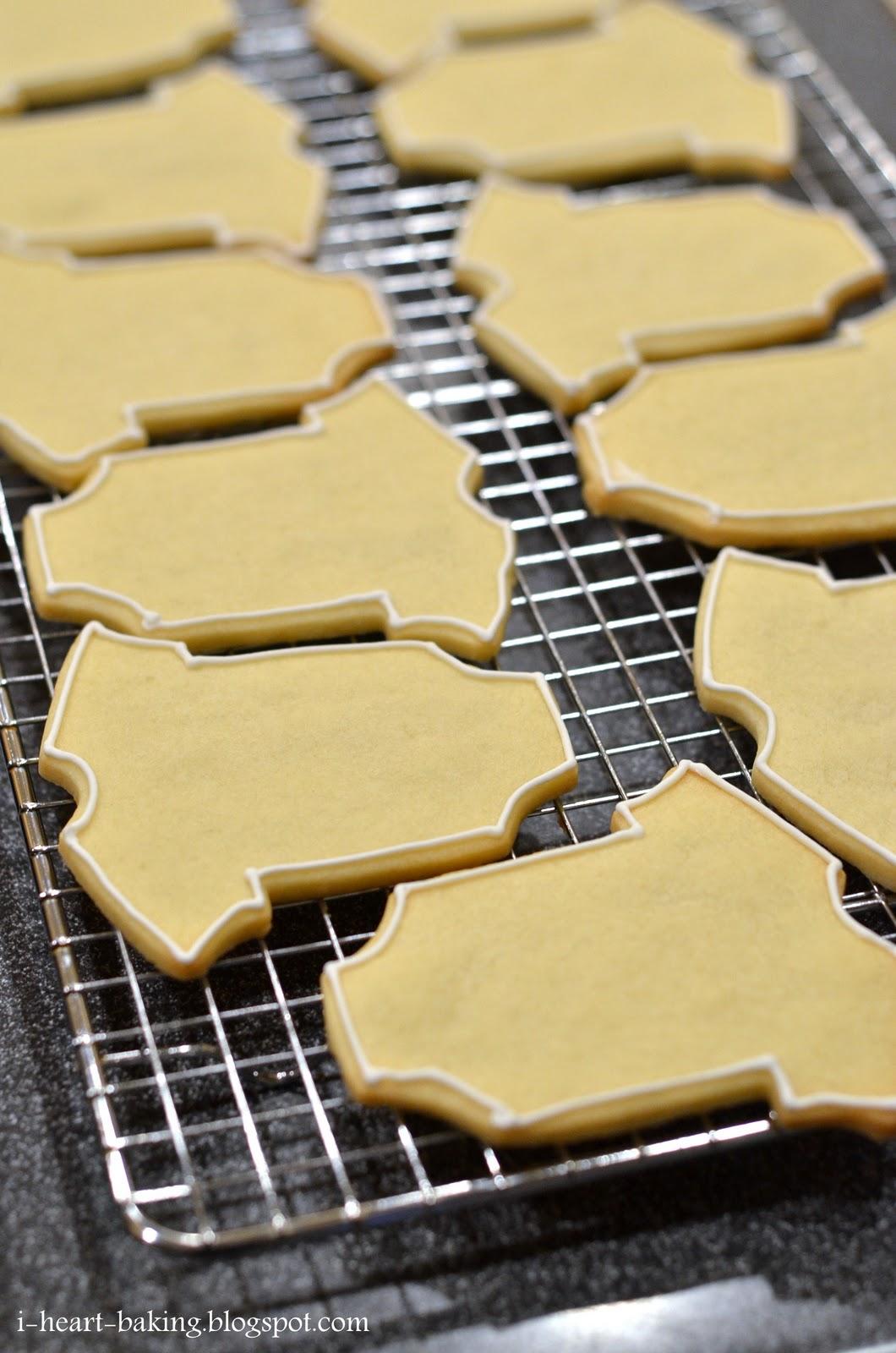 I Heart Baking Baby Shower Onesie Cookies