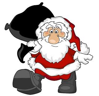 Funny looking cartoon Santa Claus