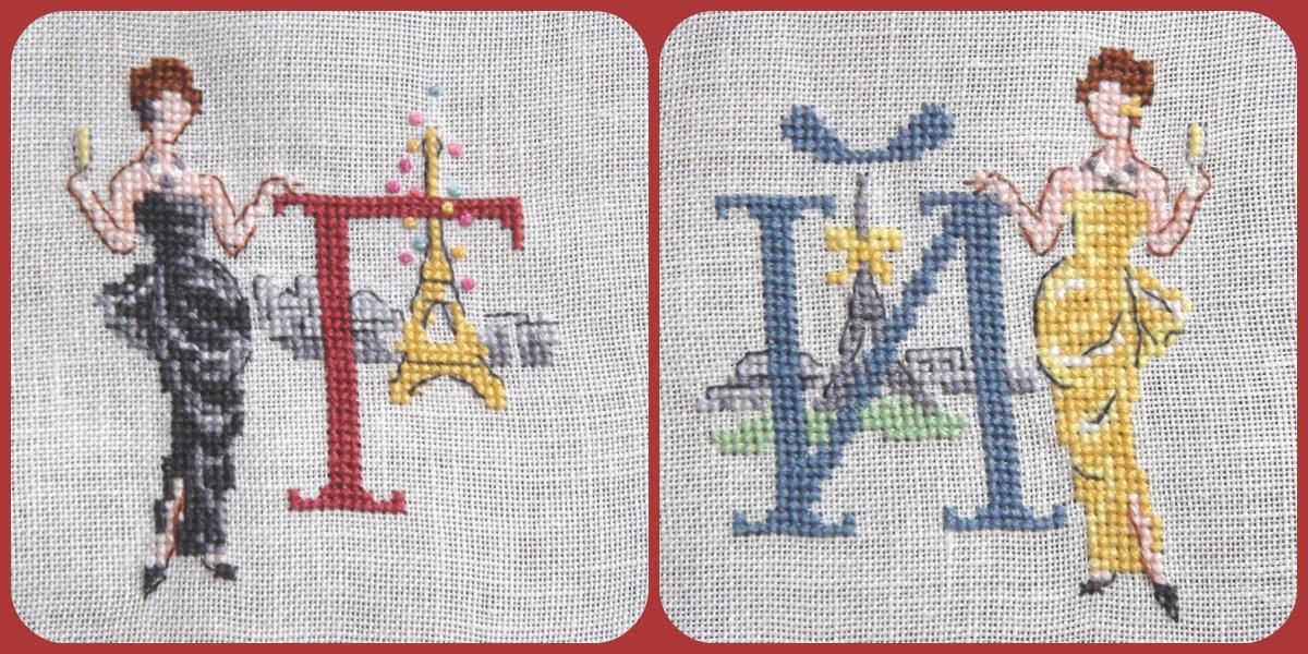 Вышивка алфавит парижанки