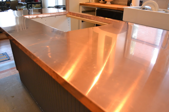 A home in the making renovate copper counters kitchen for Zinc countertop cost
