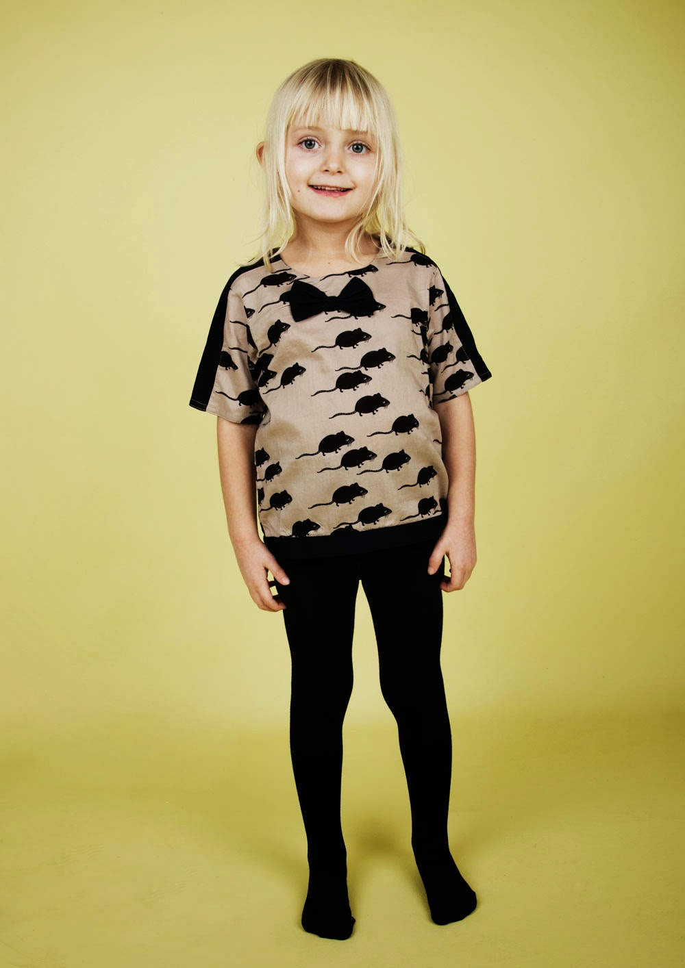 Stylish blouse with the quirky mouse print by Mini Rodini for autumn/winter 2014