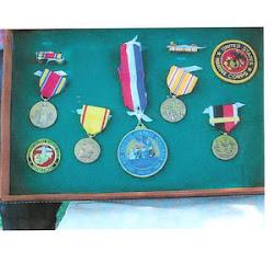 Allen's six WW II medals
