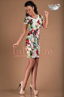 Rochie conica imprimeu floral (Tiffani)
