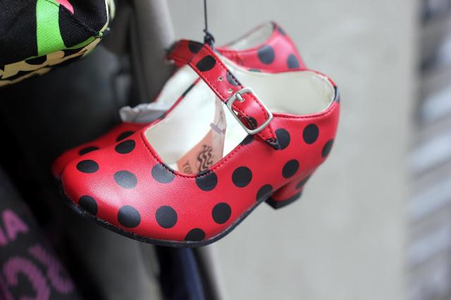 polka dot flamenco shoes