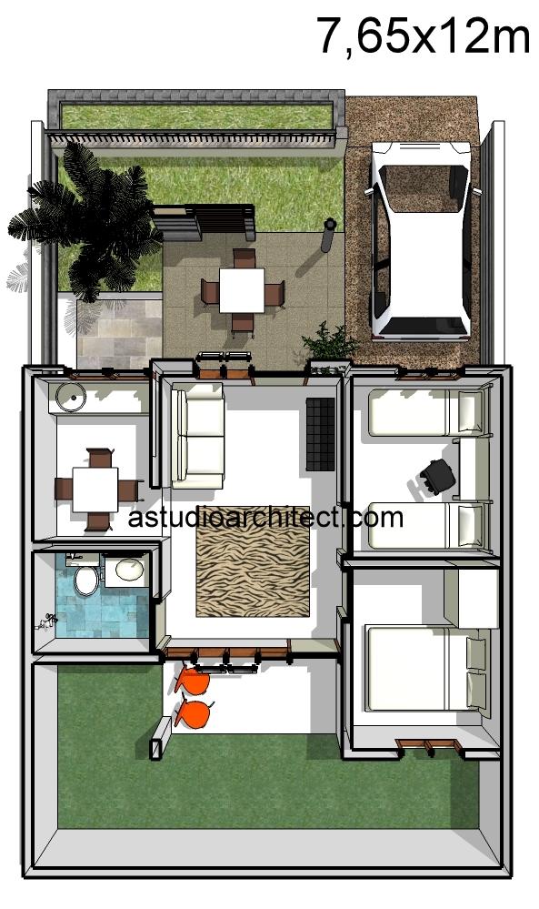 a rumah dengan teras unik 7 65x12m