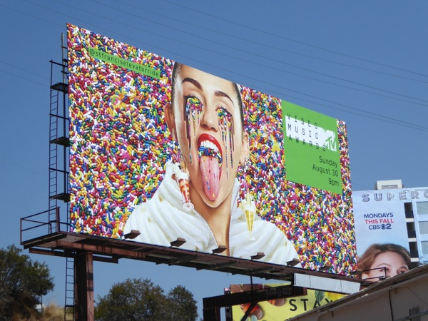 Miley Cyrus MTV VMA billboard Sunset Strip