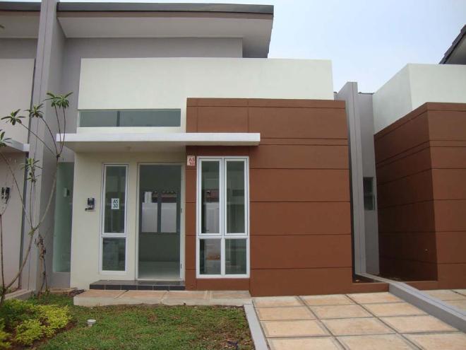 Rumah minimalis type 45 tampak depan