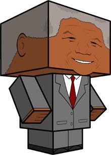 Nelson Mandela Paper Toy Paperceaft
