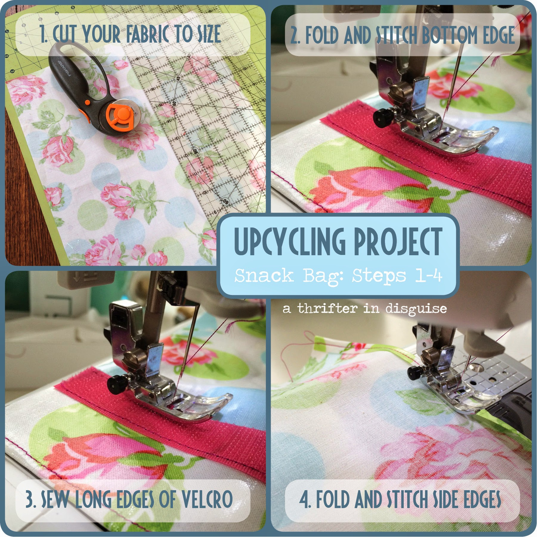 A Thrifter In Disguise Diy Reusable Snack Bags From Laminated Cotton