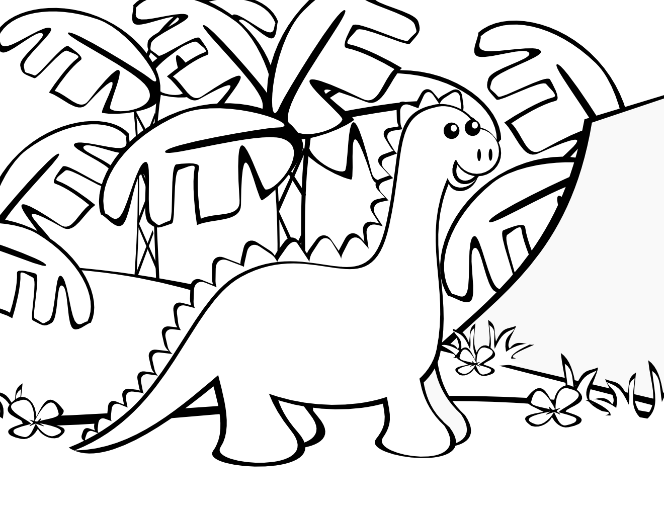 Free Coloring Pages Dinosaur Coloring