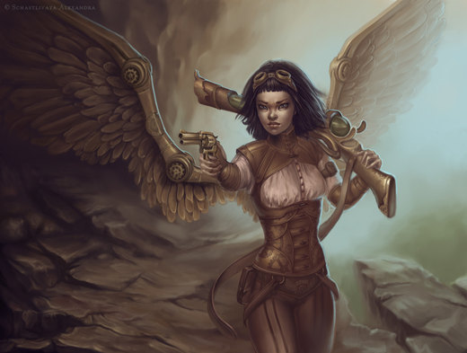 Steampunk angel por sashulka