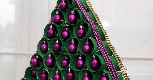 Decorar la casa en navidad con rollos de papel cart n - Adornos de navidad en carton ...