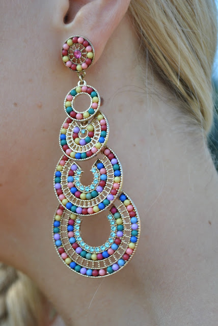 orecchini majique mariafelicia magno fashion blogger color block by felym fashion blog italiani fashion blogger italiane majique london earrings orecchini estivi summer earrings