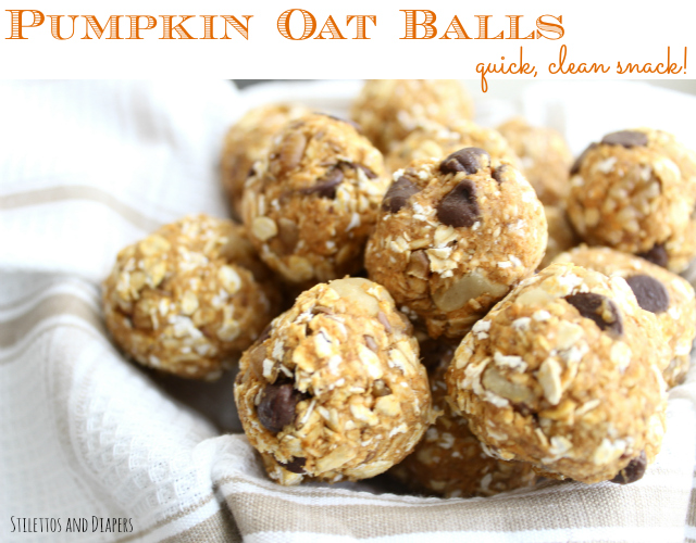 Stilettos and Diapers: Pumpkin Balls. Quick clean eating snack.