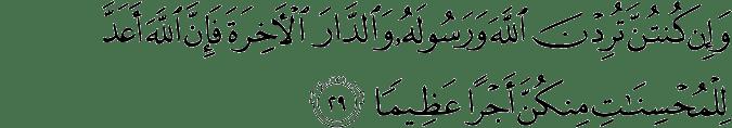 Surat Al Ahzab Ayat 29