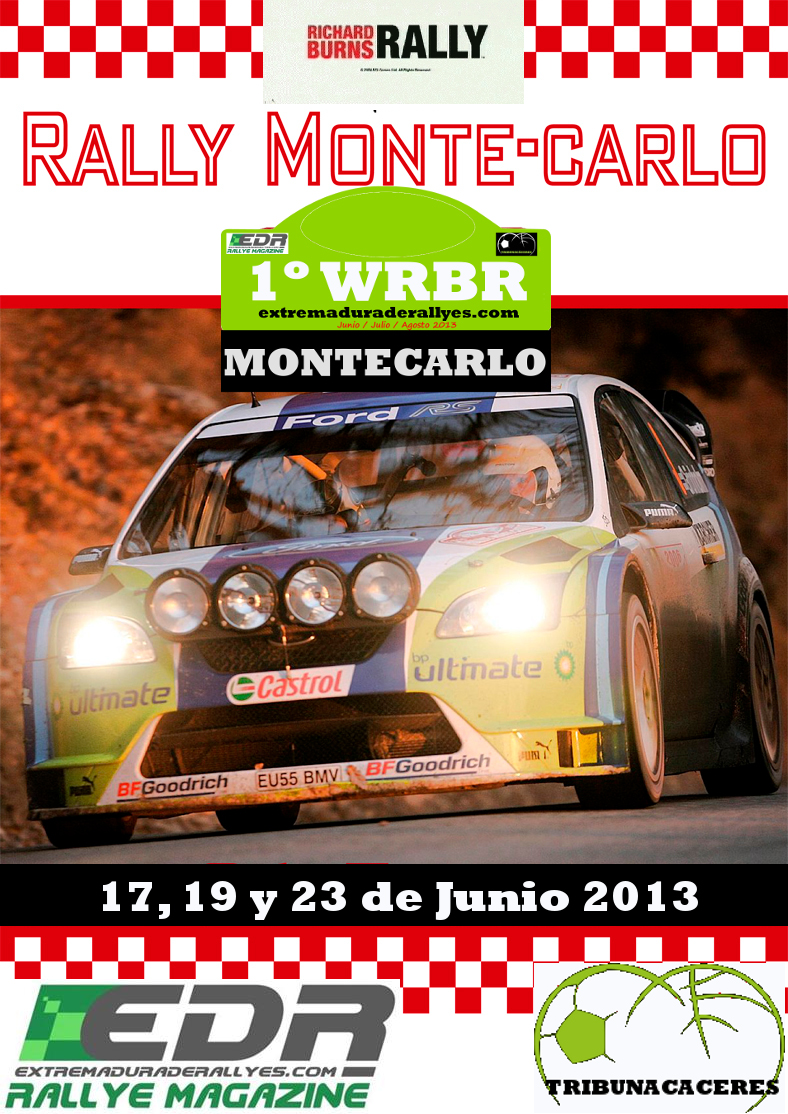 1 Campeonato del mundo Richard Burns Rally extremaduraderallyes.com Cartelmonaco