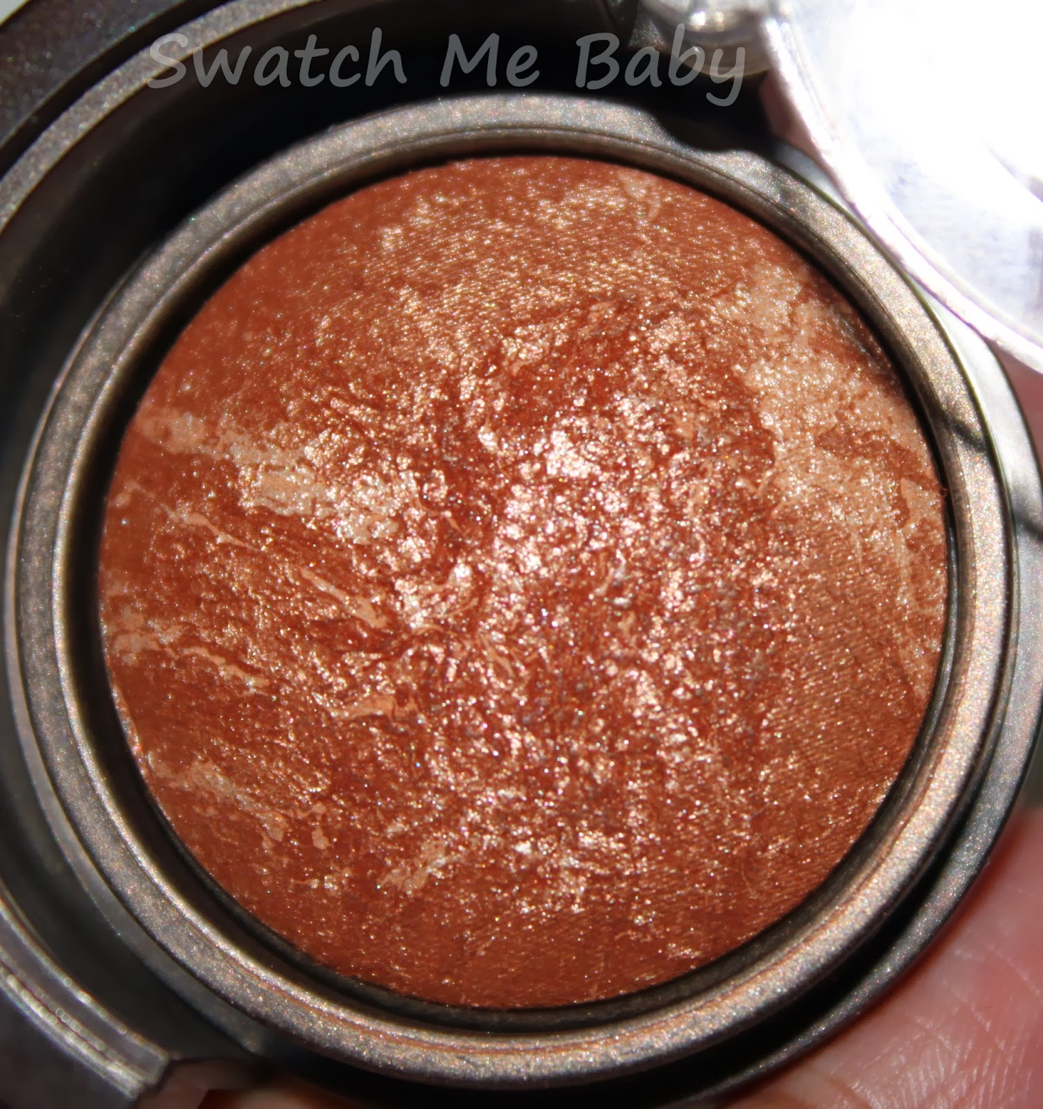 LORAC Travel-Size Tantalizer Baked Bronzer close up