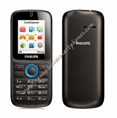 Philips E1500 Cameraless Dual Sim GPRS Internet Phone Front Back Images Photos Review