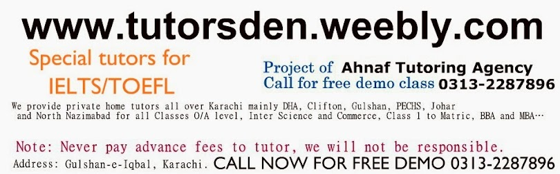 Home Tutor in Karachi for O'level MBA Tuition and online tutoring,Teaching Jobs in pakistan