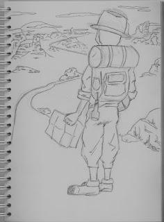 Crayonné pour le concours les héros du quotidien: J'Admire...par Juju Gribouille