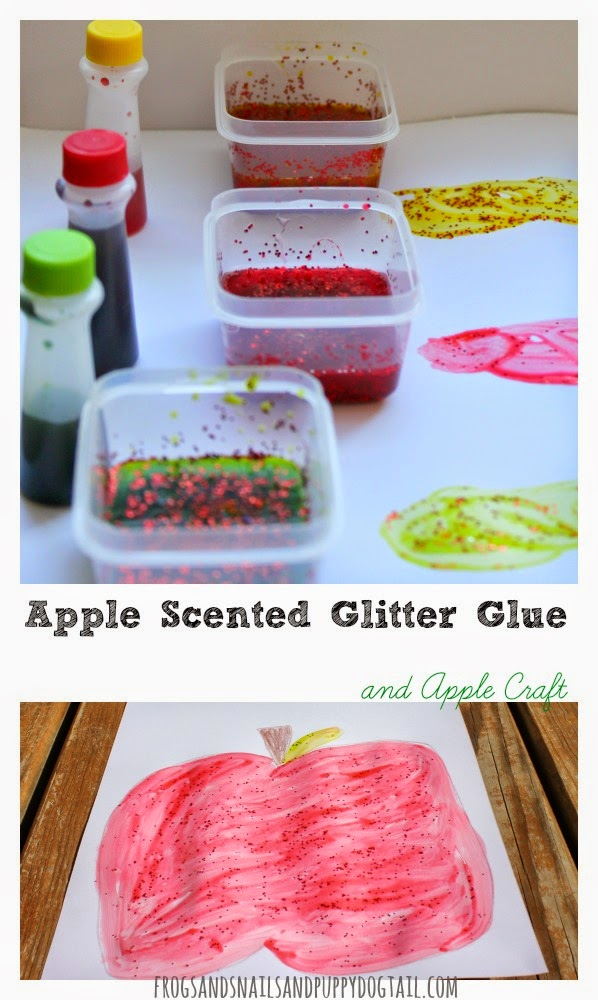 Apple Scented Glitter Glue and Apple Craft