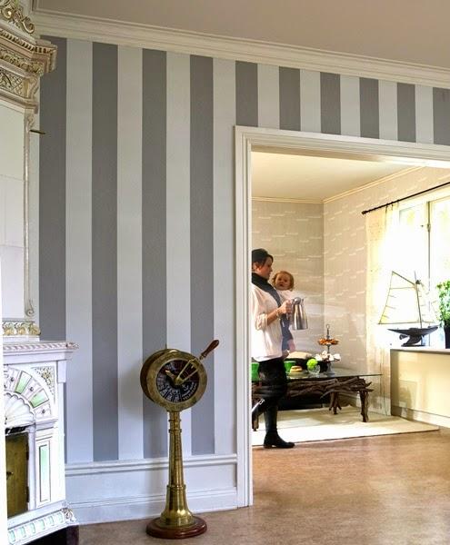 Papel pintado papeles pintados rayados a muy buen precio for Papel pintado de rayas